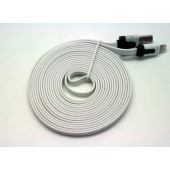 Cabo dados new mobile iphone 5 flat cable 3m branco