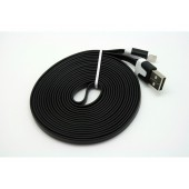 Cabo dados new mobile iphone 5 flat cable 3m preto