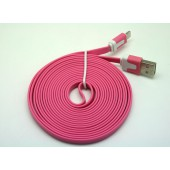 Cabo dados new mobile iphone 5 flat cable 3m rosa