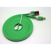 Cabo dados new mobile iphone 5 flat cable 3m verde