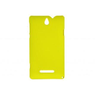 Bolsa pc rubber new mobile xperia l amarela