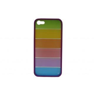Bolsa new mobile pc colorida + tpu purple iphone 5