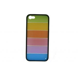 Bolsa new mobile pc colorida + tpu black iphone 5