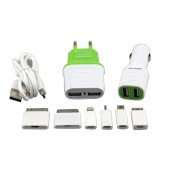 Kit 3 em 1 new mobile 7 conectores 2.1 a