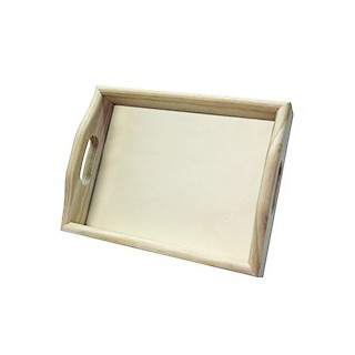 Tabuleiro liso c/vidro 15x20cms
