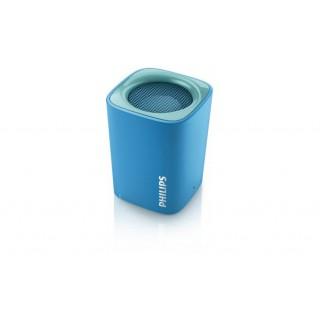 Alta-voz portatil bluetooth philips bt100a/00 azul