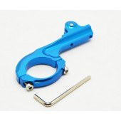 Suporte aluminio p/bicicleta p/gopro hero 3+/3/2/1 blue