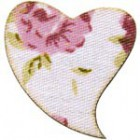 Coração mdf revestido a tecido c/25mm (6 pcs)