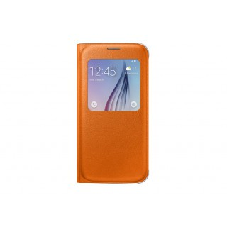 S view cover pu ef-cg920poegww galaxy s6 orange