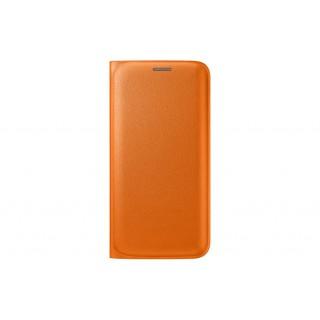 Flip wallet pu ef-wg925poegww galaxy s6 edge orange