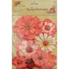 Aplicação little birdie flores vermelas (8 uni)