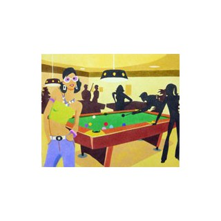 Papel aut. pré-desenhado 50x61 snooker