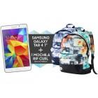 pack tablet gal tab4 7 t230 8gb white+mochila rip curl blue