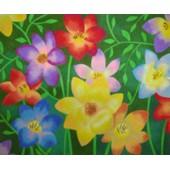 Pré-desenhado arenart c/38x46cms flores