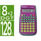 Calculadora citizen cientifica sr-135f pubp violeta 128 funcoes 8+2 digitos 154x84x19 mm