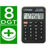Calculadora citizen de bolso lc-110 preta8 digitos