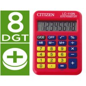 Calculadora citizen de bolso lc-110 vermelha de 8 digitos