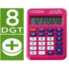 Calculadora citizen de bolso lc-110 rosa de 8 digitos
