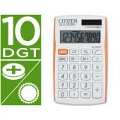Calculadora citizen de bolso sld-322rg 10 digitos branco/laranja