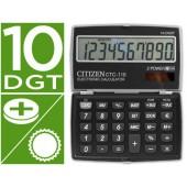 Calculadora citizen de bolso ctc-110 10 digitos preta