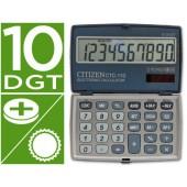 Calculadora citizen de bolso ctc-110 10 digitos cor prata