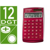 Calculadora citizen de bolso cpc-112 b 12 digitos burdeaux 720x120x90 mm