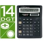 Calculadora citizen de secretaria sdc-414 de 14 digitos com visor grande