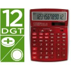 Calculadora citizen de secretaria ccc-112 b 12 digitos bordeaux burgundy 208x155x30.5 mm