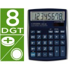 Calculadora citizen de secretaria cdc-808 digitos azul metalizada