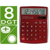 Calculadora citizen de secretaria cdc-808 digitos bordeaux