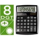 Calculadora citizen de secretaria cdc-80 bkwb funções financeiras -8 digitos preta
