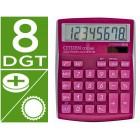 Calculadora citizen de secretaria cdc-80 8 digitos rosa brilhante