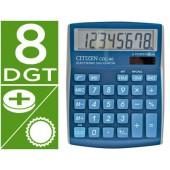 Calculadora citizen de secretaria cdc-80 8 digitos celeste brilhante
