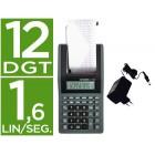 Calculadora citizen de secretaria com impressora visor papel cx-77bn 12 digitos com adaptador incorporado