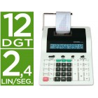 Calculadora citizen de secretaria com impressora cx-121 ii 12 digitos