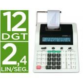 Calculadora citizen de secretaria com impressora cx-121 ii 12 digitos