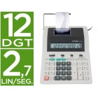 Calculadora citizen de secretaria com impressora cx-123 ii 12 digitos