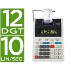 Calculadora citizen de secretaria com impressora 520 dp 12 digitos