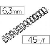 Espiral gbc preta modelo wire 3:1 6.3 mm n.4 com capacidade para 45 folhas