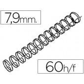 Espiral gbc preta modelo wire 3:1 7.9 mm n.5 com capacidade para 60 folhas