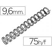 Espiral gbc preta modelo wire 3:1 9.5 mm n.6 com capacidade para 75 folhas