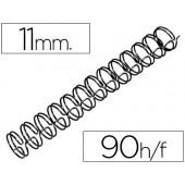 Espiral gbc preta modelo wire 3:1 11 mm n.7 com capacidade para 90 folhas