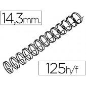 Espiral gbc preta modelo wire 3:1 14.3 mm n.9 com capacidade para 125 folhas
