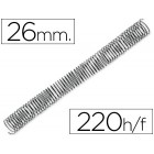 Espiral metalico q-connect 56-4:1 diametro 26 mm calibre 1.2mm para 220 folhas