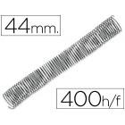 Espiral metalico q-connect 56-4:1 diametro 44 mm calibre 1.2mm para 400 folhas