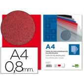 Capa de encadernacao liderpapel em polipropileno a4 vermelho opaco de 0.8 mm