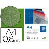 Capa de encadernacao liderpapel em polipropileno a4 verde opaco de 0.8 mm