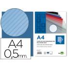 Capa de encadernacao liderpapel em polipropileno transparente raiado formato a4 0.5 mm azul