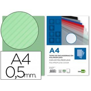 Capa de encadernacao liderpapel em polipropileno transparente raiado formato a4 0.5 mm verde