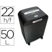Destruidora de documentos rexel mercury capacidade para 22 folhas recipiente com 50 litros